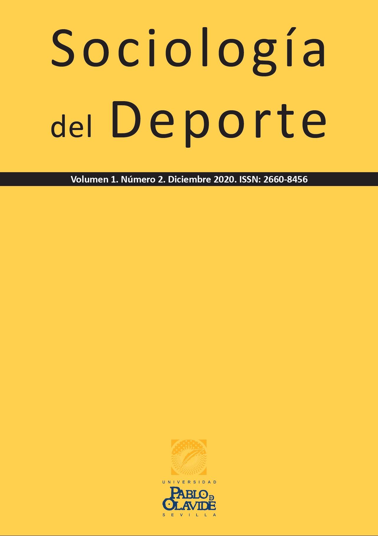 Portada Volumen 1, Número 2, Sociología del Deporte (SD)